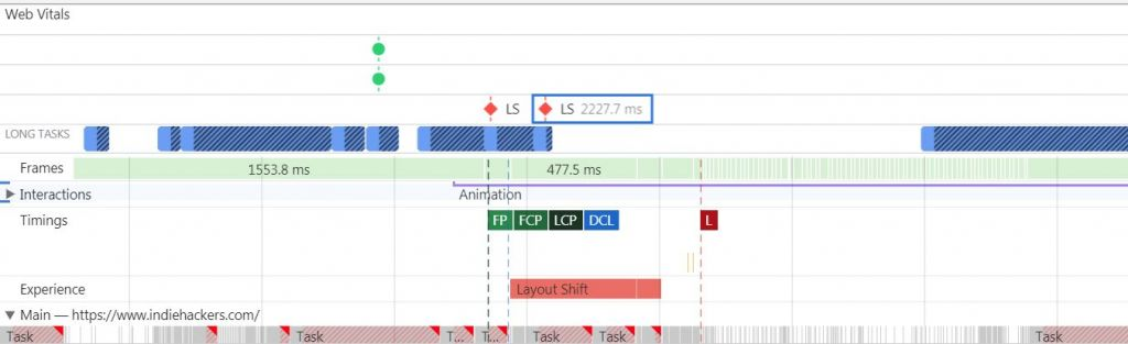 Measure layout shifts in Chrome DevTools