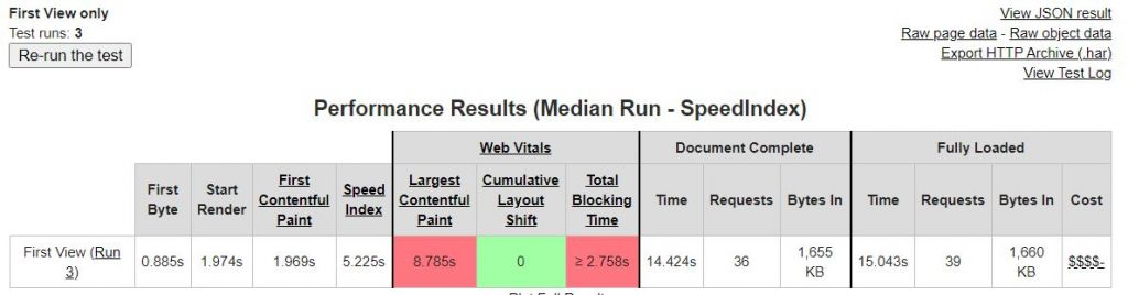 Measure TBT with WebPageTest